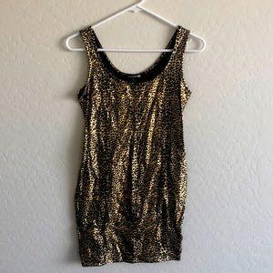 Metallic leopard bodycon dress